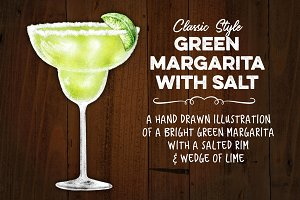 Classic Green Margarita with Salt