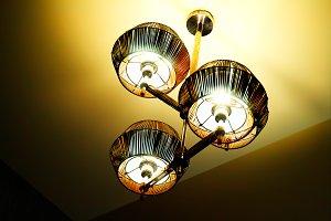 Luxury lamp interior background