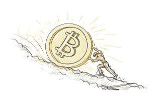 Miner pushing bitcoin upward.
