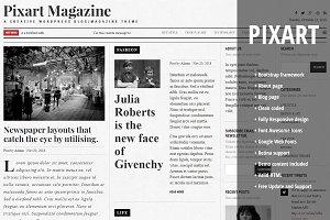 Pixart Magazine A Creative HTML