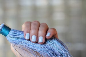Tenderness blue nails