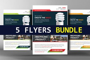 5 Green Energy Flyers Bundle