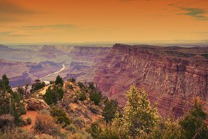 Grand Canyon before sunset