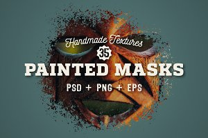 35 Hand Painted Masks