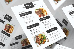 Clean Food Menu