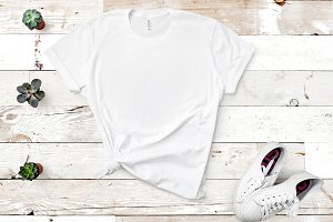 Bella Canvas TShirt Mockup White