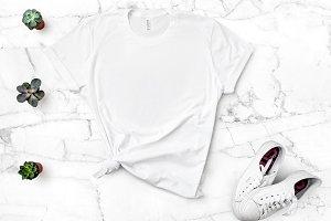 Bella Canvas TShirt Mockup White