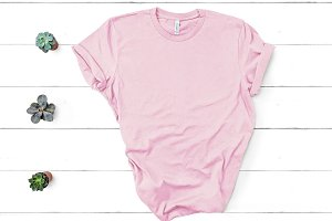 Bella Canvas TShirt Mockup Pink