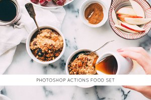 30 Photoshop actions food set