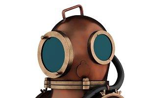Underwater diving scuba helmet