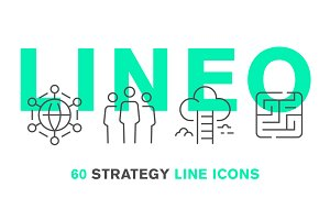 LINEO - 60 STRATEGY LINE ICONS