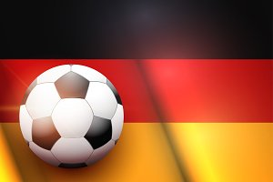 Football ball and Germany Flag