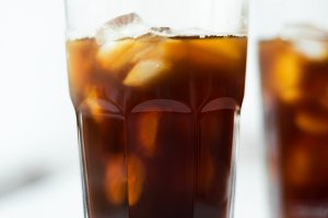 Cold brew. Coffee with ice