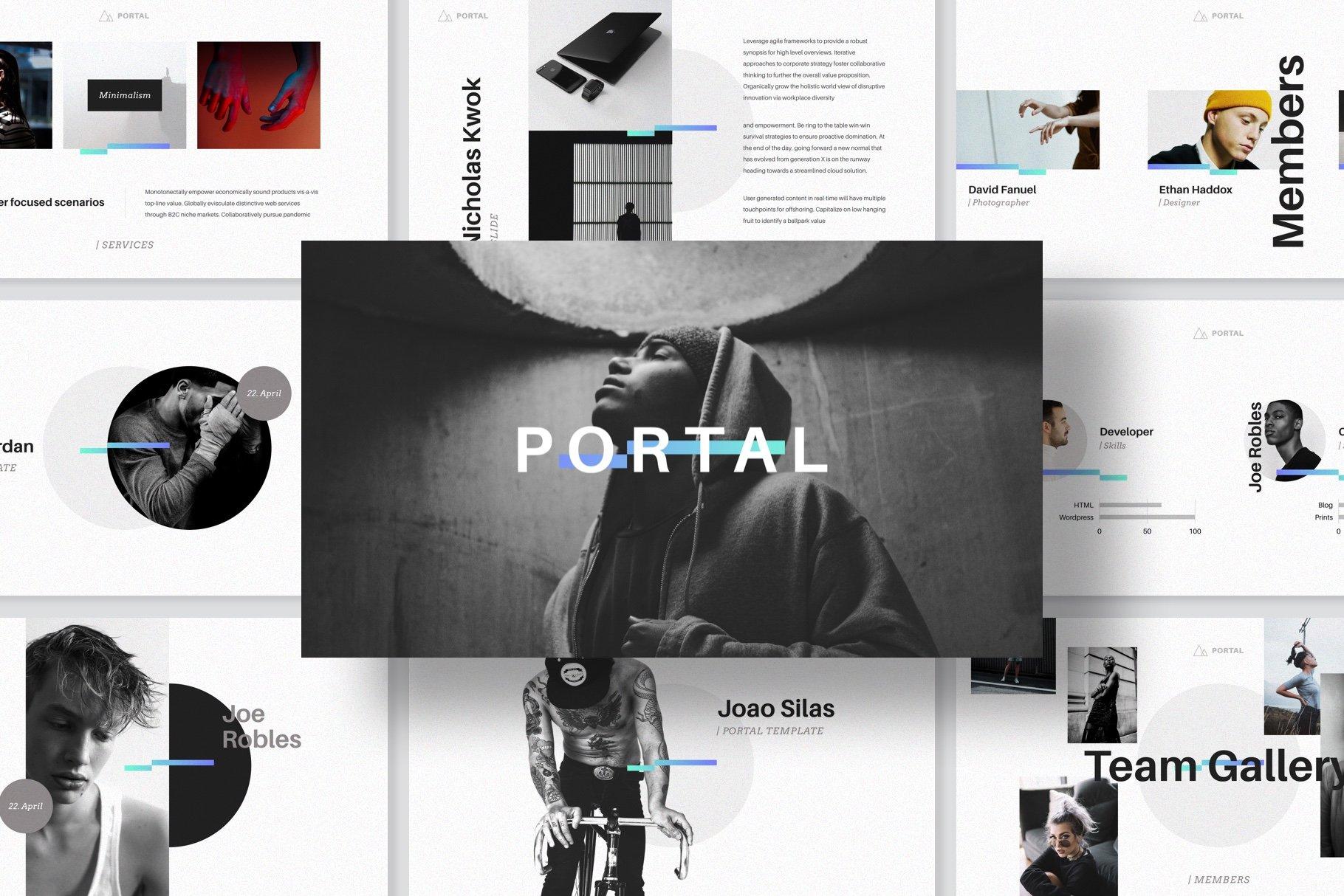 Portal Keynote Presentation Template Presentation Templates