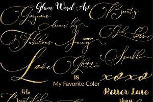 Glam Girl Word Art