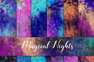 Magical Nights Digital Paper