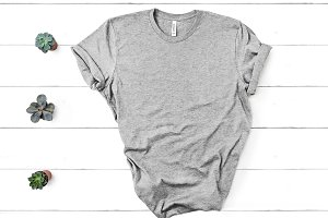 Bella Canvas TShirt Mockup Grey