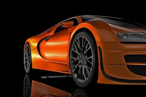 Sport car in perspective