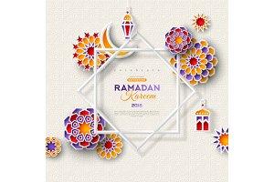 Ramadan Kareem star frame