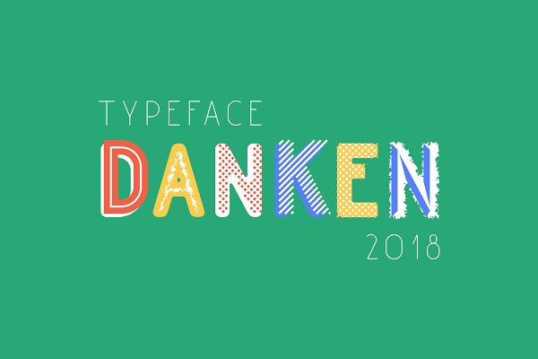Display Fonts: Etewut - Danken typeface (26 styles)
