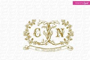Vintage Wine Wedding Logo