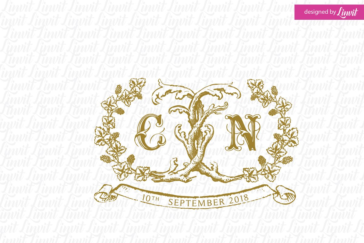 Vintage Wine Wedding Logo