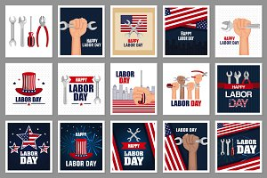 30 Labor Day Vector Collection
