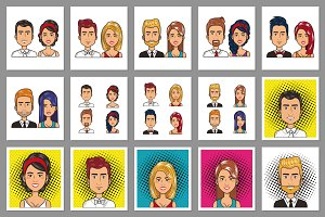30 People Cartoon Vector Collection