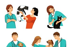People veterinary set