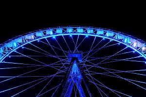 Big ferris wheel with illumination