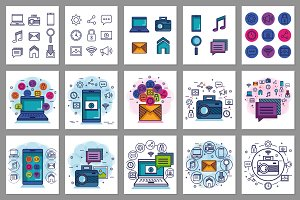 30 Technology & Communication Vector