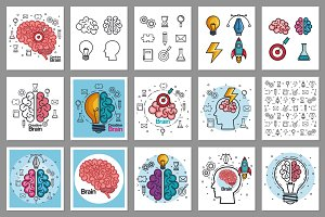 Brain, Creativity & Ideas Concept