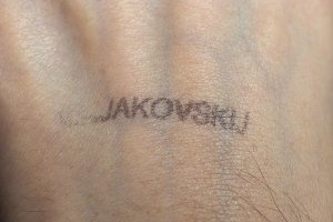 Majakovskij hand rubber reentry stamp