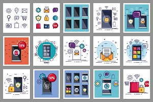 30 Mobile Technology Vector Pack