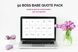 50 Image Boss Babe Quotes Pack