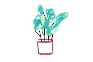 Indoor Plant Art Illustration