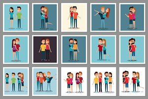 30 Young People Vector Collection