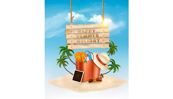 Vacation vector background