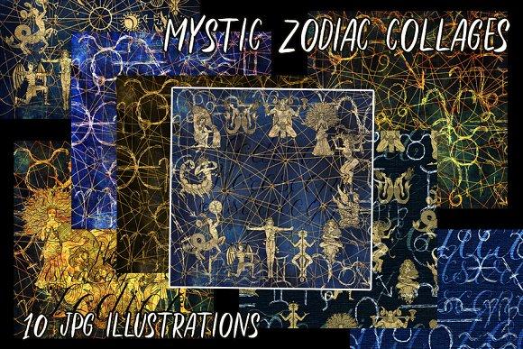 Mystic zodiac collages