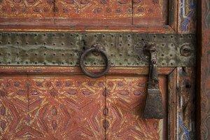 Beautifuly Adorned Moroccan Door