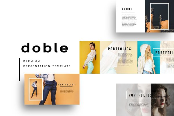 Presentation Templates: Brenners Template - DOBLE PowerPoint Template