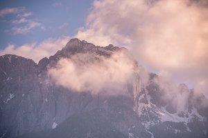 Vivid mountains sunset