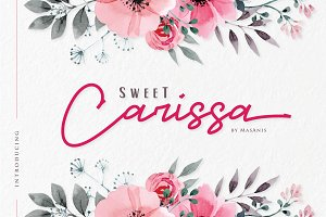 Sweet Carissa - Font Duo | 20% OFF
