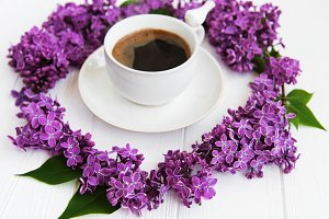 Coffe and lilac