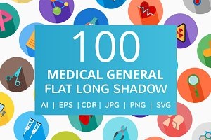101 Medical General Flat Icons