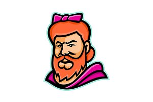 Bearded Lady Mascot