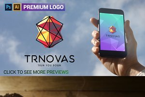 Futuristic Geometric Shapes Logo