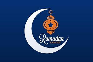 Ramadan Kareem Logo. Eid Mubarak