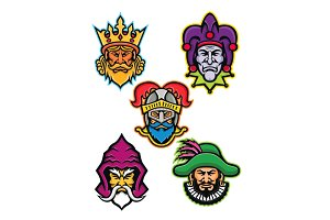 Medieval Royal Court Mascot Collecti
