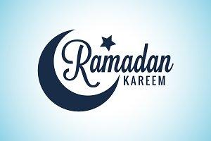 Ramadan Kareem Moon Lettering.